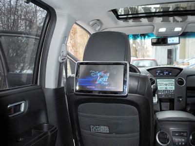Навесные мониторы на подголовник автомобиля